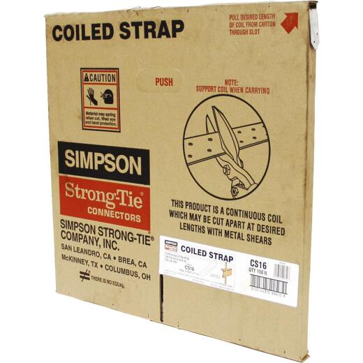 Simpson Strong-Tie 1-14 in. x 150 ft. Galvanized Steel 16 Gauge Coiled Strapping