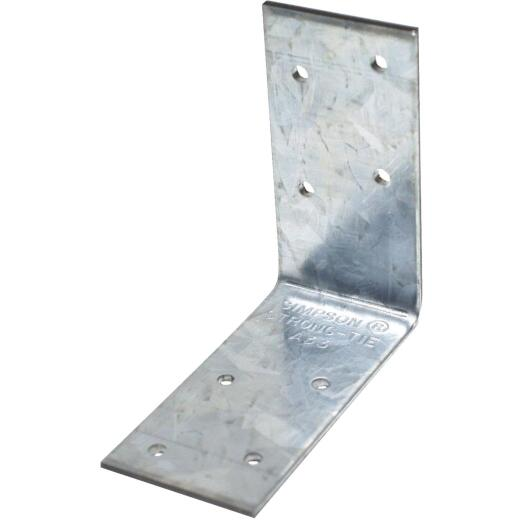 Simpson Strong-Tie 3 In. x 3 In. x 1-1/2 In. Galvanized Steel 12 ga Reinforcing Angle