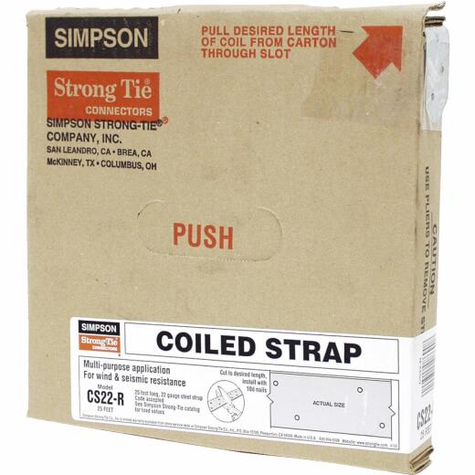 Simpson Strong-Tie 1-1/4 in. x 25 ft. Galvanized Steel 22 Gauge Coiled Strapping