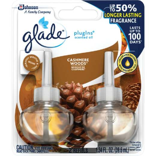 Glade PlugIns Cashmere Woods Scented Oil Refill (2-Count)