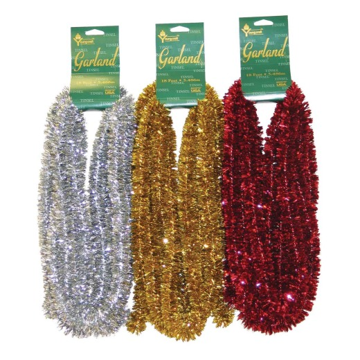 Youngcraft 15 Ft. Assorted Color Deluxe Mini Trim Colored Garland Assortment